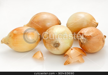 Onions stock photo, Onions in white background by Oleg