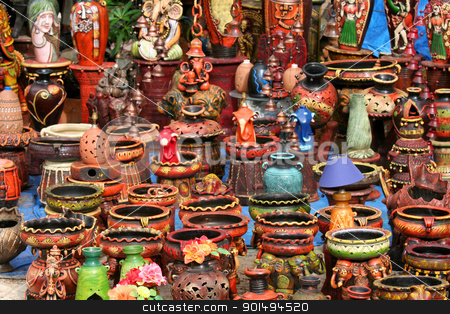 Indian Handicrafts stock photo, Colorful handicrafts of India  by Sreedhar Yedlapati