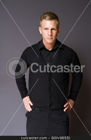 Fashionable young businessman. stock photo, Portrait of an elegantly dressed fashionable young businessman. by exvivo