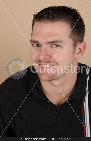 Male stock photo, Young brunette male against a light background by Vanessa Van Rensburg