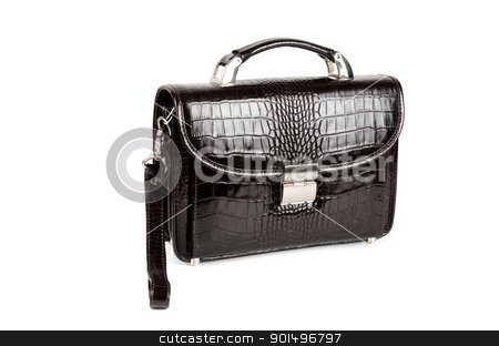 black bag stock photo, black male bag isolated on white background by olinchuk