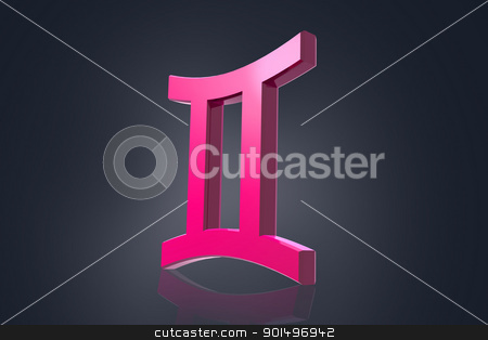 Highly 3d  rendering zodiac symbol in color background stock photo, Highly 3d  rendering zodiac symbol in color background by dileep