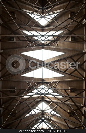 Abstract Ceiling stock photo, An abstract ceiling made of wood and glass by Kevin Tietz