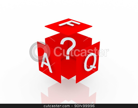 Faq 3d render illustration  stock photo, Faq 3d render illustration  by dacasdo