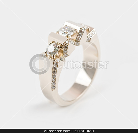 MaleRing stock photo, Male ring of gold with gems by olinchuk