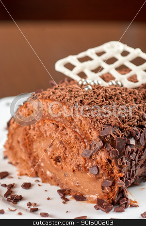 cupcake stock photo, fresh baked cupcake on a wooden table by olinchuk