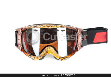 skier mask stock photo, skier mask isolated on a white background by olinchuk