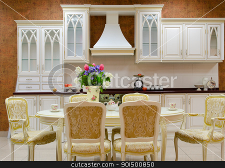 kitchen interior stock photo, photo of the kitchen interior by olinchuk