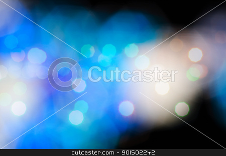 blue bokeh background stock photo, blue bokeh - blur lights, defocused background by olinchuk