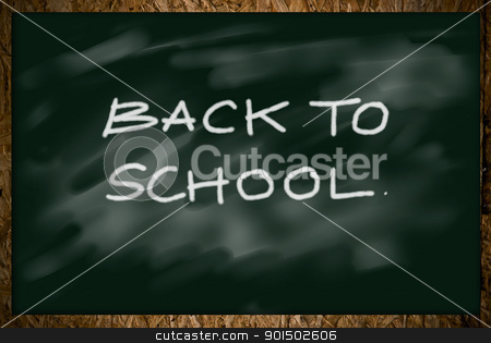 Black board stock photo, Black board, Back to school concept by pixbox77