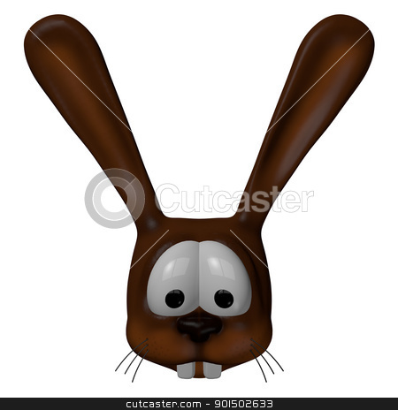 rabbit stock photo, cartoon rabbit - 3d illustration by J?