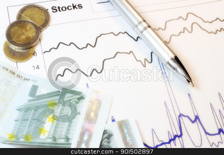 Value of stocks stock photo, A movement of stocks on trading market. by Primus