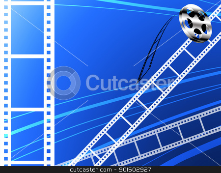 Film strip abstract background stock photo, Film strip abstract background, Film technology by Patipat Rintharasri