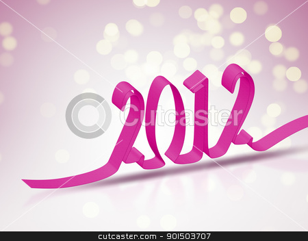 2012 bokeh background stock photo, An image of a 2012 new year bokeh background by Markus Gann
