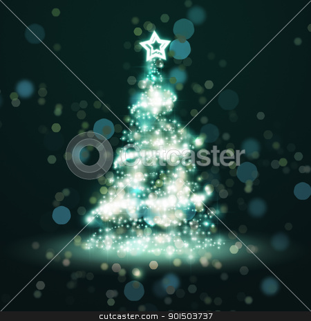 christmas tree of light stock photo, An image of a nice blue christmas tree of light by Markus Gann