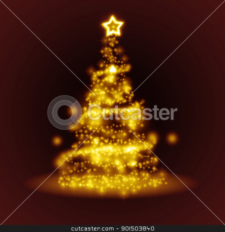 red christmas stock photo, An image of a nice christmas tree of light by Markus Gann