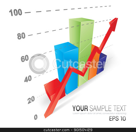 Cool 3D Graph stock vector clipart, This image is a vector file representing a 3D Graph,  all the elements can be scaled to any size without loss of resolution. by Bagiuiani Kostas