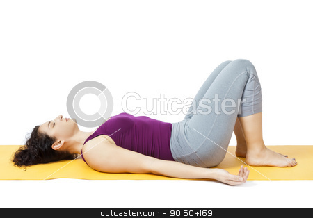 yoga woman stock photo, An image of a pretty woman doing yoga by Markus Gann