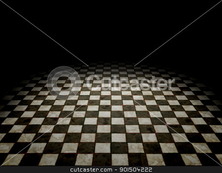 black and white tiles stock photo, An image of a black and white tiles background by Markus Gann