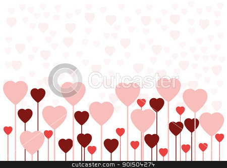 Valentine love card or background stock vector clipart, Abstract white Valentine love card or background by Artush