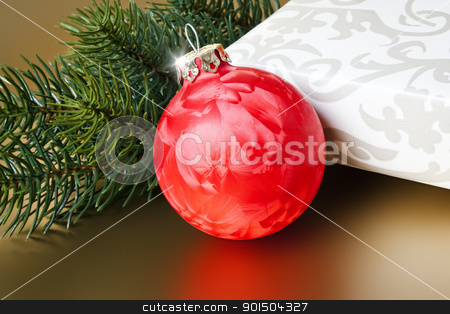christmas ball stock photo, An image of a nice red christmas ball by Markus Gann