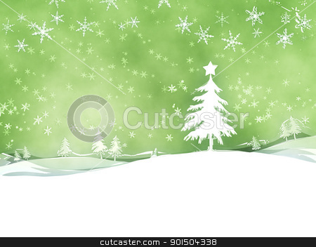 green christmas stock photo, An image of a nice green christmas background by Markus Gann