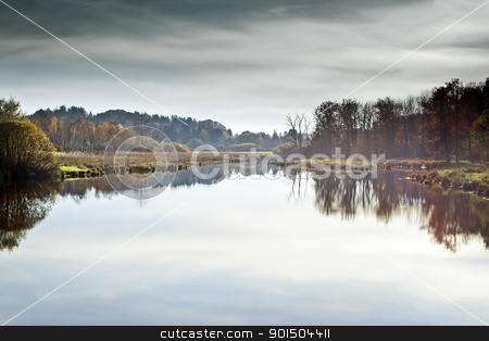 autumn scenery stock photo, An image of a nice autumn lake by Markus Gann