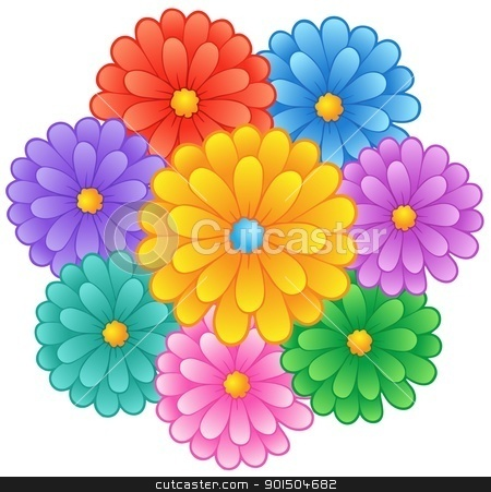 Flower theme image 1 stock vector clipart, Flower theme image 1 - vector illustration. by Klara Viskova