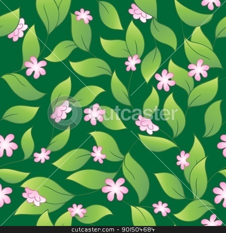 Flowery seamless background 2 stock vector clipart, Flowery seamless background 2 - vector illustration. by Klara Viskova