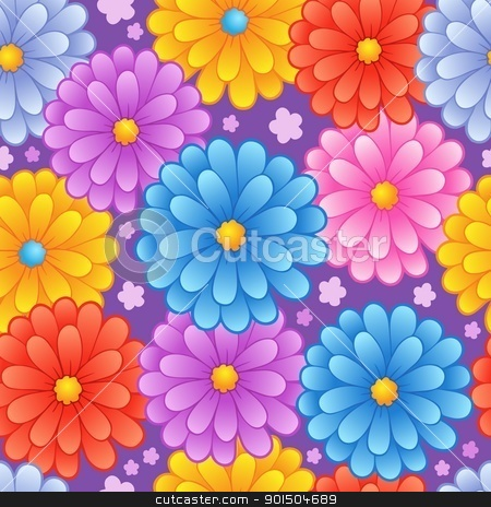 Flowery seamless background 4 stock vector clipart, Flowery seamless background 4 - vector illustration. by Klara Viskova