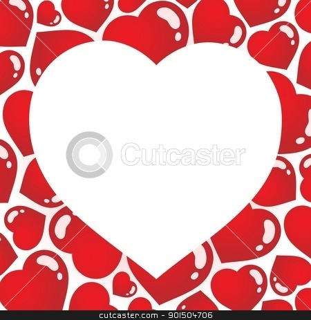 Heart shaped frame 1 stock vector clipart, Heart shaped frame 1 - vector illustration. by Klara Viskova
