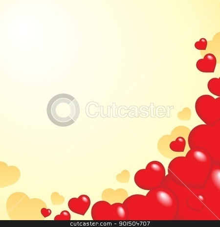 Heart theme background 1 stock vector clipart, Heart theme background 1 - vector illustration. by Klara Viskova