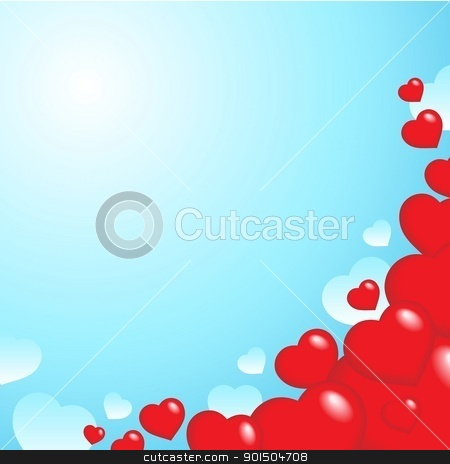 Heart theme background 2 stock vector clipart, Heart theme background 2 - vector illustration. by Klara Viskova
