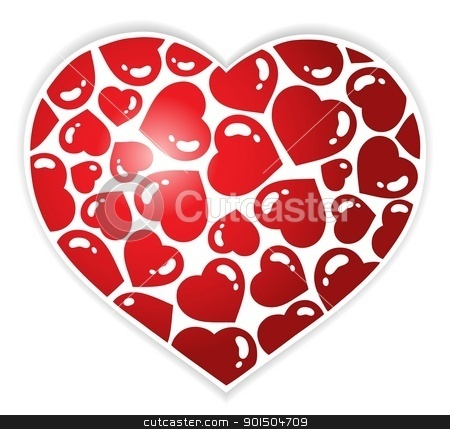 Heart theme image 1 stock vector clipart, Heart theme image 1 - vector illustration. by Klara Viskova