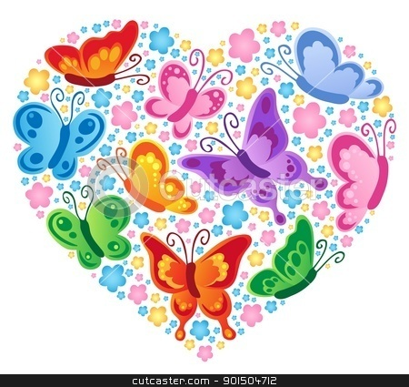 Heart theme image 4 stock vector clipart, Heart theme image 4 - vector illustration. by Klara Viskova