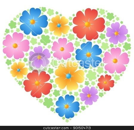 Heart theme image 5 stock vector clipart, Heart theme image 5 - vector illustration. by Klara Viskova