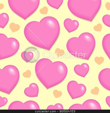 Seamless background with hearts 2 stock vector clipart, Seamless background with hearts 2 - vector illustration. by Klara Viskova