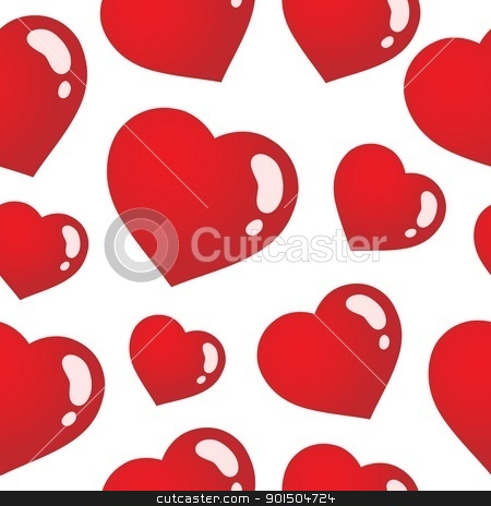 Seamless background with hearts 3 stock vector clipart, Seamless background with hearts 3 - vector illustration. by Klara Viskova