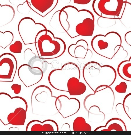 Seamless background with hearts 4 stock vector clipart, Seamless background with hearts 4 - vector illustration. by Klara Viskova