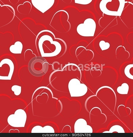 Seamless background with hearts 5 stock vector clipart, Seamless background with hearts 5 - vector illustration. by Klara Viskova