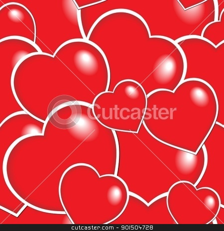 Seamless background with hearts 6 stock vector clipart, Seamless background with hearts 6 - vector illustration. by Klara Viskova