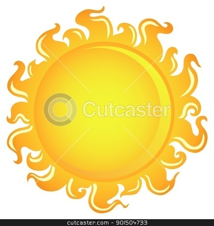 Sun theme image 1 stock vector clipart, Sun theme image 1 - vector illustration. by Klara Viskova