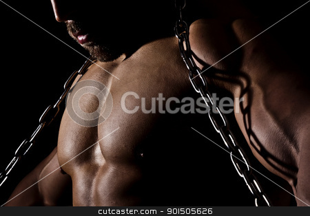 bodybuilding man stock photo, An image of a muscular sports man by Markus Gann