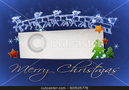 blue christmas stock photo, An image of a nice blue christmas background by Markus Gann
