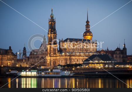Hofkirche Dresden stock photo, An image of the famous Hofkirche in Dresden Germany by Markus Gann