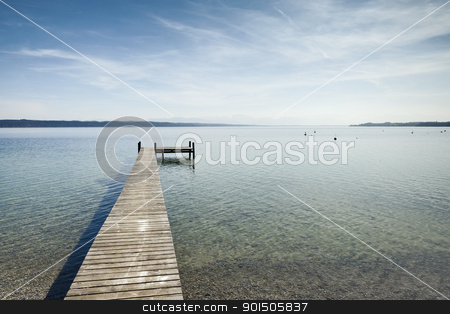 jetty stock photo, An old jetty at Starnberg Lake in Germany by Markus Gann