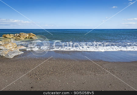 sky sea and sand stock photo, An image of a sky sea and sand background by Markus Gann