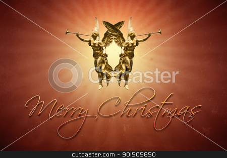 christmas angels stock photo, An image of a nice red christmas angels background by Markus Gann