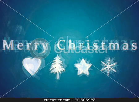 merry christmas stock photo, An image of a nice merry christmas postcard by Markus Gann