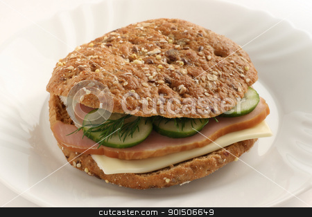 sandwich with cheese and ham stock photo, sandwich with cheese and ham by nataliamylova